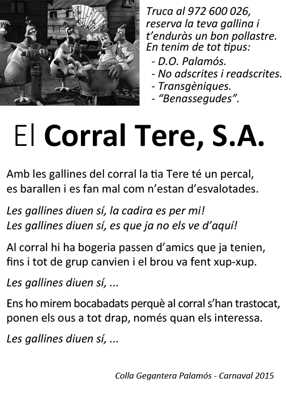 Carnaval 2015 - Folleto